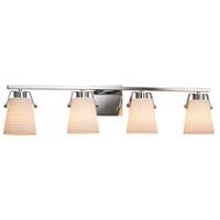 Justice Design PNA-8484-SAWT-CROM Porcelina 4 Light 34 inch Polished Chrome Bath Bar Wall Light in Sawtooth Incandescent