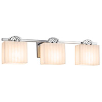 Justice Design PNA-8493-55-WAVE-DBRZ Porcelina Malleo 3 Light 24 inch Dark Bronze Bath Bar Wall Light