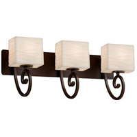 Porcelina 3 Light 26 inch Dark Bronze Vanity Light Wall Light in Waves, LED