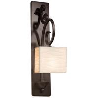 Justice Design PNA-8579-55-WAVE-DBRZ-LED1-700 Porcelina LED 6 inch Dark Bronze Wall Sconce Wall Light in 700 Lm LED Waves Rectangle