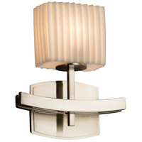Porcelina 1 Light 9 inch Brushed Nickel ADA Wall Sconce Wall Light in Pleats, Incandescent