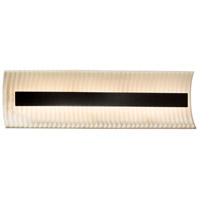 Porcelina LED 21 inch Matte Black Vanity Light Wall Light in Pleats