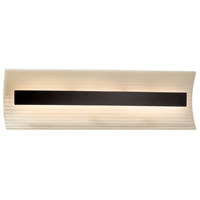 Porcelina LED 21 inch Matte Black Vanity Light Wall Light in Sawtooth