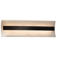 Porcelina LED 21 inch Matte Black Vanity Light Wall Light in Waves
