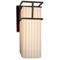 Porcelina LED 5 inch Dark Bronze Wall Sconce Wall Light in Pleats