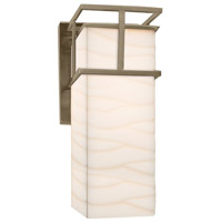 Porcelina LED 5 inch Brushed Nickel Wall Sconce Wall Light in Waves