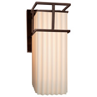 Porcelina LED 7 inch Dark Bronze Wall Sconce Wall Light in Pleats