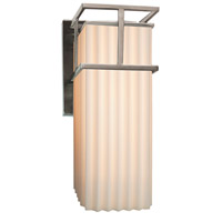 Porcelina LED 7 inch Brushed Nickel Wall Sconce Wall Light in Pleats