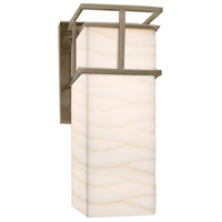 Porcelina 1 Light 7 inch Brushed Nickel Wall Sconce Wall Light in Waves