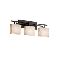 Porcelina 3 Light 26 inch Dark Bronze Vanity Light Wall Light in Fluorescent, Waves