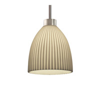 Justice Design Porcelina 1 Light Pendant in Brushed Nickel PNA-8814-18-PLET-NCKL-RIGID
