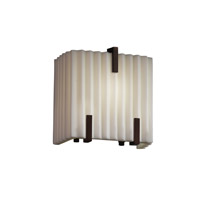 Porcelina 1 Light 6 inch Dark Bronze ADA Wall Sconce Wall Light in Pleats