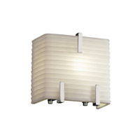 Porcelina 1 Light 6 inch Polished Chrome ADA Wall Sconce Wall Light in Sawtooth