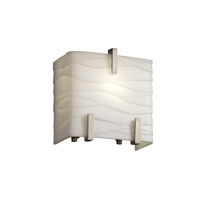Porcelina 1 Light 6 inch Brushed Nickel ADA Wall Sconce Wall Light in Waves