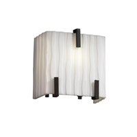Porcelina 1 Light 6 inch Matte Black ADA Wall Sconce Wall Light in Waterfall