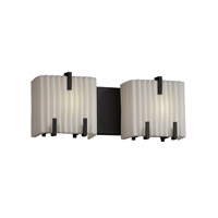 Justice Design Porcelina 2 Light Bath Light in Matte Black PNA-8872-PLET-MBLK