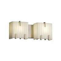 Justice Design Porcelina 2 Light Bath Light in Brushed Nickel PNA-8872-WFAL-NCKL