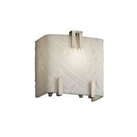 Porcelina 1 Light 6 inch Brushed Nickel ADA Wall Sconce Wall Light in Banana Leaf
