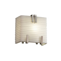 Porcelina 1 Light 6 inch Brushed Nickel ADA Wall Sconce Wall Light in Sawtooth