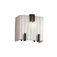 Porcelina 1 Light 6 inch Dark Bronze ADA Wall Sconce Wall Light in Waterfall
