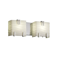 Justice Design Porcelina 2 Light Bath Light in Polished Chrome PNA-8882-WAVE-CROM