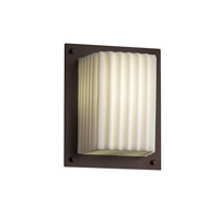 Porcelina 1 Light 7 inch Dark Bronze ADA Wall Sconce Wall Light in Pleats