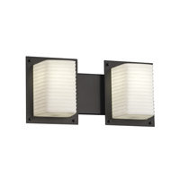 Porcelina 2 Light 17 inch Matte Black Bath Light Wall Light in Sawtooth