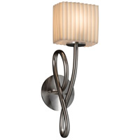 Porcelina 1 Light 6 inch Brushed Nickel Wall Sconce Wall Light in Pleats, Incandescent