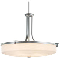 Justice Design PNA-8982-WAVE-CROM Porcelina 6 Light 27 inch Polished Chrome Pendant Ceiling Light in Waves Incandescent