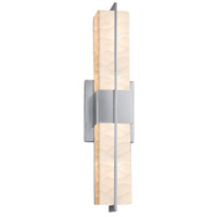 Justice Design PNA-9051-WAVE-CROM Porcelina LED 20 inch Polished Chrome Linear Wall/Bath Wall Light Rectangle