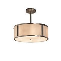 Justice Design PNA-9540-WFAL-NCKL Porcelina 2 Light 14 inch Drum Pendant Ceiling Light in Brushed Nickel Waterfall Incandescent