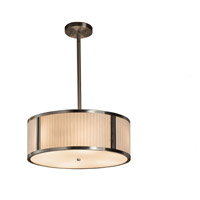 Justice Design Group Porcelina LED Drum Pendant in Brushed Nickel PNA-9541-WFAL-NCKL-LED3-3000