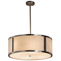 Justice Design Group Porcelina LED Drum Pendant in Brushed Nickel PNA-9542-WFAL-NCKL-LED5-5000
