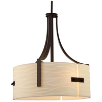 Justice Design PNA-9561-WAVE-CROM Porcelina Lira 3 Light 18 inch Polished Chrome Drum Pendant Ceiling Light