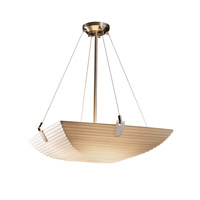 Porcelina 6 Light 27 inch Brushed Nickel Pendant Bowl Ceiling Light in Square Bowl, Sawtooth