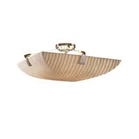 Justice Design PNA-9632-35-WAVE-DBRZ-LED5-5000 Porcelina LED 27 inch Dark Bronze Semi-Flush Ceiling Light in 5000 Lm LED, Waves, Round Bowl
