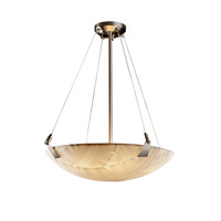 Porcelina 6 Light 27 inch Brushed Nickel Pendant Bowl Ceiling Light in Round Bowl, Banana Leaf