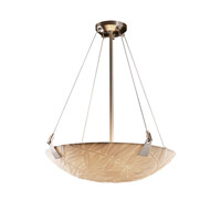 Porcelina 6 Light 27 inch Brushed Nickel Pendant Bowl Ceiling Light in Round Bowl, Bamboo