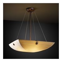 Porcelina 3 Light 21 inch Dark Bronze Pendant Bowl Ceiling Light in Concentric Circles, Square Bowl, Sawtooth