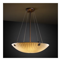 Porcelina 3 Light 21 inch Dark Bronze Pendant Bowl Ceiling Light in Concentric Circles, Round Bowl, Waterfall