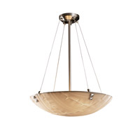 Porcelina 6 Light 27 inch Brushed Nickel Pendant Bowl Ceiling Light in Pair of Square with Points, Round Bowl, Banana Leaf