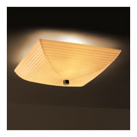Porcelina 6 Light 24 inch Matte Black Semi-Flush Bowl Ceiling Light in Square Bowl, Sawtooth