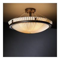 Porcelina 6 Light 27 inch Dark Bronze Semi-Flush Bowl Ceiling Light in Pleats