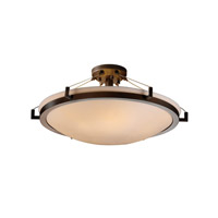 Porcelina 6 Light 27 inch Dark Bronze Semi-Flush Bowl Ceiling Light in Smooth