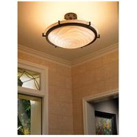 Justice Design PNA-9682-35-WAVE-DBRZ-LED5-5000 Porcelina LED 27 inch Dark Bronze Semi-Flush Ceiling Light in 5000 Lm LED Waves