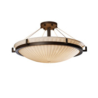 Porcelina 6 Light 27 inch Dark Bronze Semi-Flush Bowl Ceiling Light in Waterfall