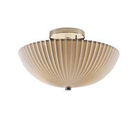 Signature 2 Light 14 inch Polished Chrome Semi-Flush Ceiling Light in Pleats