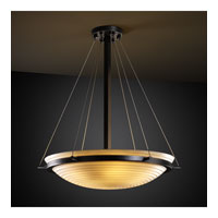 Porcelina 3 Light 21 inch Matte Black Pendant Bowl Ceiling Light in Sawtooth