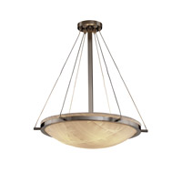 Porcelina 6 Light 27 inch Brushed Nickel Pendant Bowl Ceiling Light in Banana Leaf