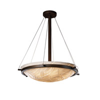 Porcelina 6 Light 27 inch Dark Bronze Pendant Bowl Ceiling Light in Bamboo